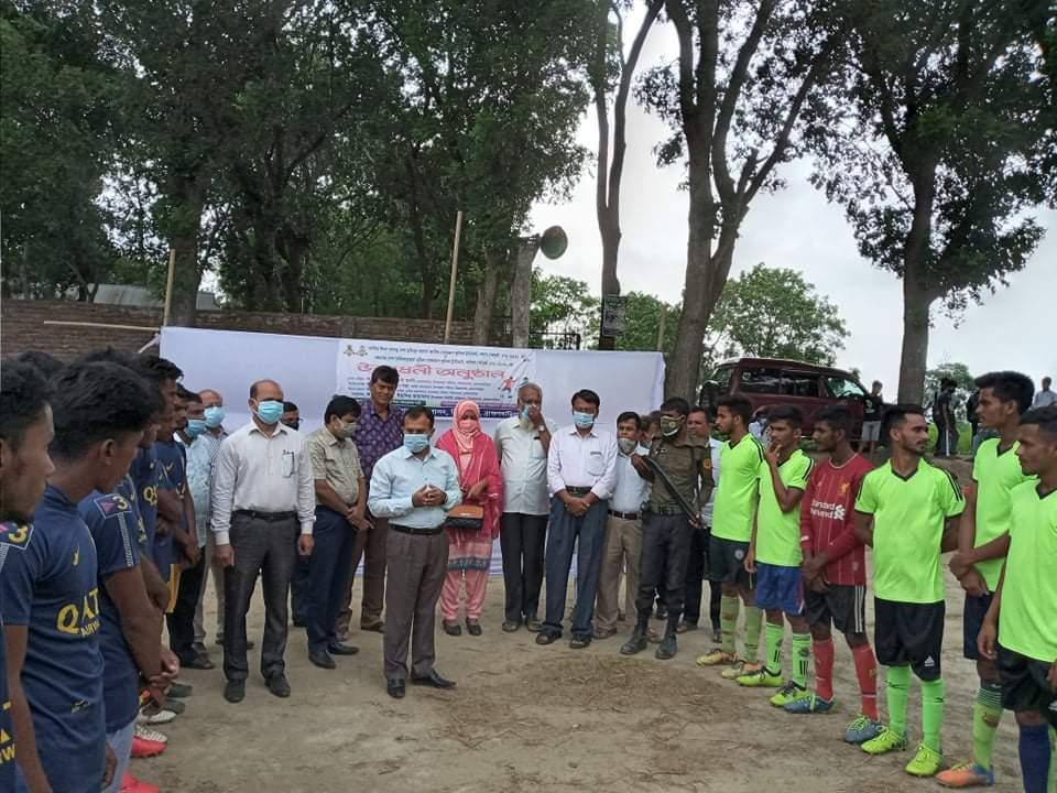 বিজয়নগরে জাতির জনক বঙ্গবন্ধু  শেখ মুজিবুর রহমান ও বঙ্গমাতা বেগম ফজিলাতুন্নেছা মুজিব গোল্ডকাপ ফুটবল এর উদ্বোধন